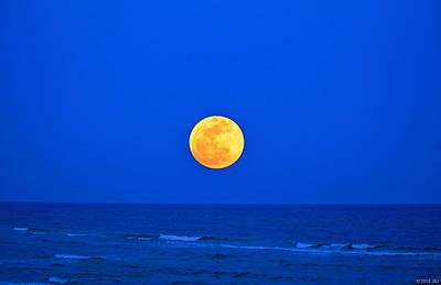 Photograph - Supermoon Rising On Navarre Beach 20120505a by Jeff at JSJ Photography
