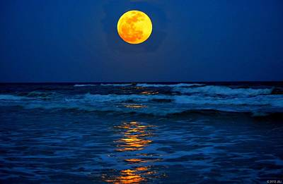 Photograph - Supermoon Rising On Navarre Beach 20120505c by Jeff at JSJ Photography