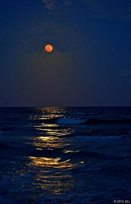 Photograph - Supermoon Rising On Navarre Beach 20120505d by Jeff at JSJ Photography