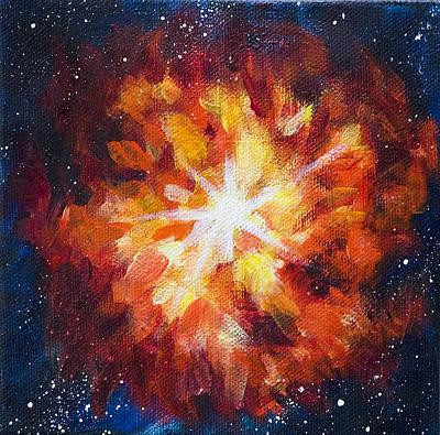 Supernova Explosion Art Print