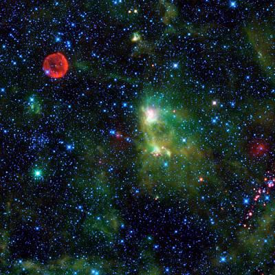 Supernova Remnant And Nebula Art Print