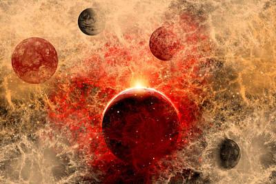Ending Life Digital Art - Supernova.1. by Mark Stevenson