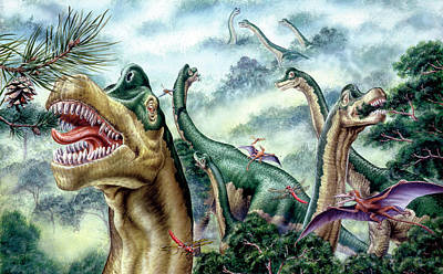 Paleozoology Photograph - Supersaurus Dinosaurs by Deagostini/uig