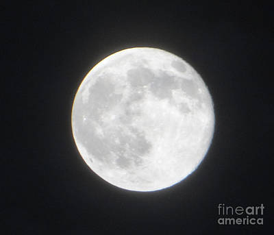 Photograph - Supersized Moon 1156 Pm July 12 2014 by Ecinja