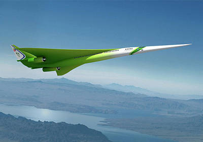 Airliners Photograph - Supersonic Plane Concept by Nasa/lockheed Martin