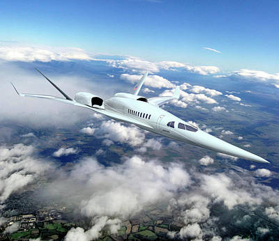 Supersonic Plane Concept Testing Art Print