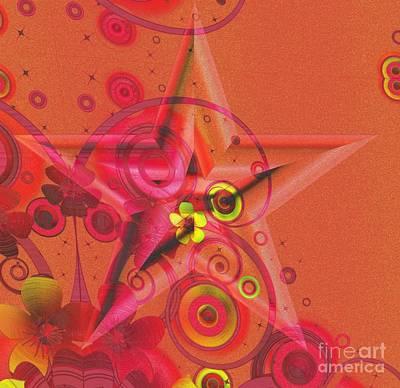 Impasto Oil Digital Art - Superstar by Liane Wright