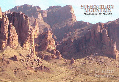 Photograph - Superstition Mountain by Cristophers Dream Artistry