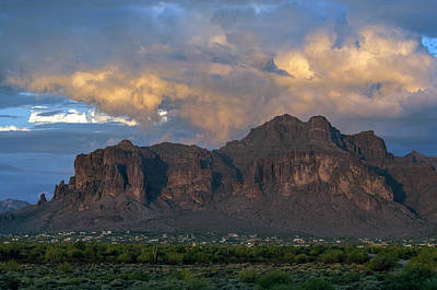 Photograph - Superstition Mountain Sunset by Tam Ryan
