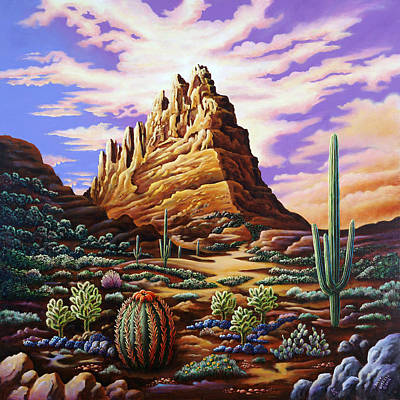Imaginative Photograph - Superstition Mountains by Andy Russell