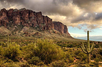 Superstition Mountains  Print by Saija  Lehtonen