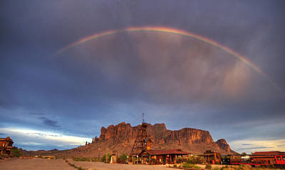 The Superstitions Photograph - Superstition Rainbow  by Saija  Lehtonen