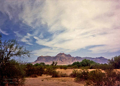 Photograph - Superstition Sky by Connie Fox
