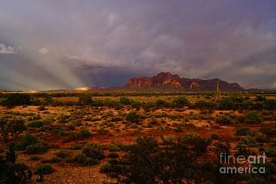 Photograph - Superstition Sun Rays by Kerri Mortenson