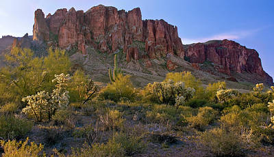 Photograph - Superstitions Mountains Sunrise by Dave Dilli