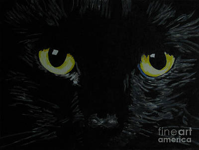 Superstitious Eyes Print by Nancie Johnson