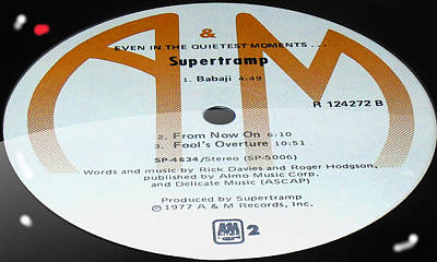 Supertramp- Even In The Quietest Moments - Side B Art Print by Marcello Cicchini