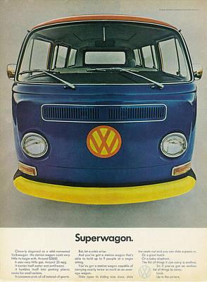 Hippie Van Digital Art - Superwagon by Nomad Art and Design