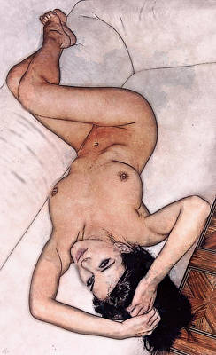 Photograph - Supine Nude by Maynard Ellis