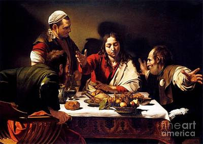 Caravaggio Painting - Supper At Emmaus by Pg Reproductions