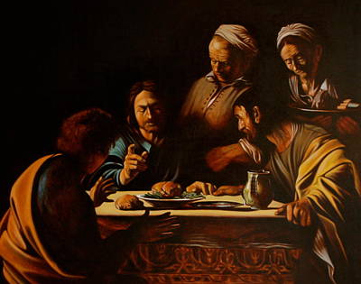 Supper In Emaus Original by Dan Petrov