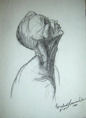 Hand Made Drawing - Supplication by Esther Newman-Cohen