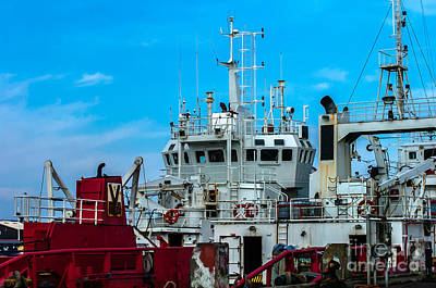 Photograph - Supply Ship Oil Industri by Jorgen Norgaard