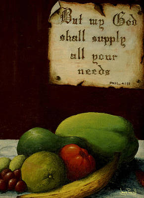 Supplying Our Needs Art Print by Wayne Pascall