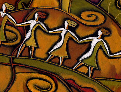 Women Together Painting - Support by Leon Zernitsky