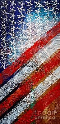 Design Pics Painting - Support Our Troops    by Art Stone