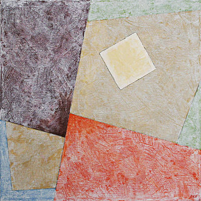 Painting - Suprematist Composition No 1 With A Square by Ben Gertsberg
