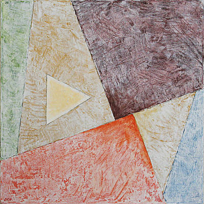 Suprematist Composition No 3 With A Triangle Original by Ben Gertsberg