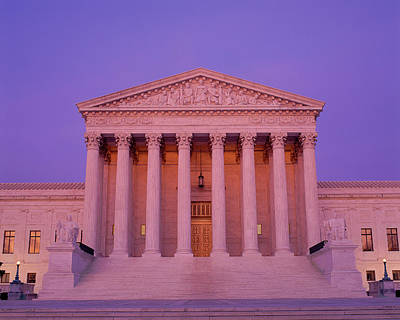 Corinthian Photograph - Supreme Court Building At Dusk by Panoramic Images