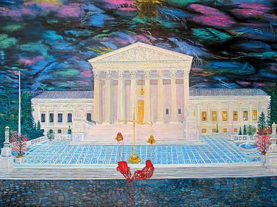 Supreme Court Art Print by Mike De Lorenzo