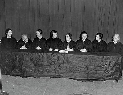 Group Of Women Talking Photograph - Supreme Court Satire Skit by Underwood Archives