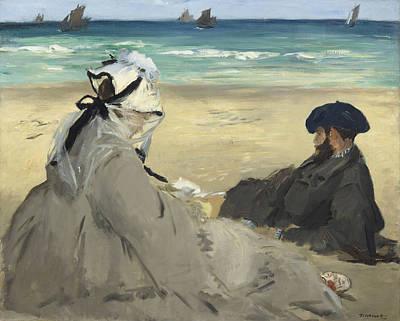 Etes Painting - Sur La Plage Ete by Celestial Images