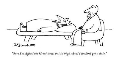 Now Drawing - Sure I'm Alfred The Great Now by Charles Barsotti