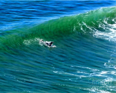 Mixed Media - Surf 1 Take Off by Glenn McNary