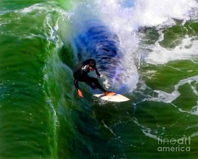 Mixed Media - Surf 4 Shoot The Pier by Glenn McNary