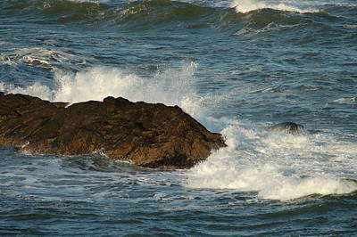 Photograph - Surf And Rocks by Ron Roberts