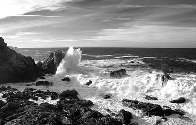 Seascape Photograph - Surf At Cambria by Barbara Snyder