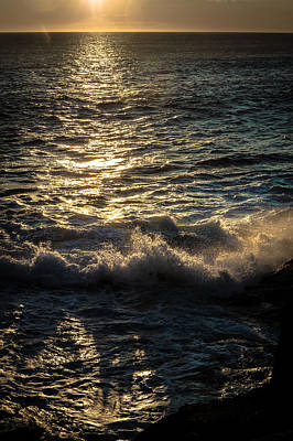 Photograph - Surf At Dawn by David Pinsent