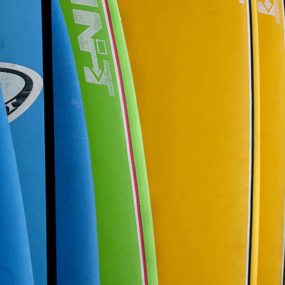 For Rent Photograph - Surf Boards by Art Block Collections