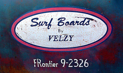 Surf Boards By Velzy Art Print