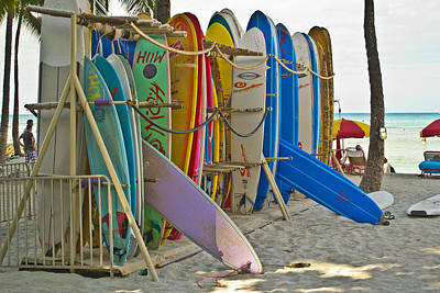 Surf Boards Art Print by Matt Radcliffe