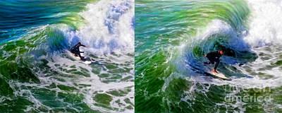 Mixed Media - Surf Carve Duo by Glenn McNary