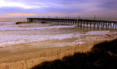 Surf City Pier Art Print by Karen Wiles