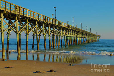 Photograph - Surf City Reflections by Bob Sample