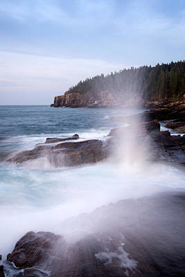 Maine Nature Photograph - Surf Crashing On The Coast, Acadia by Panoramic Images