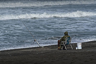 Photograph - Surf Fisherman On Rialto Beach by Randall Nyhof